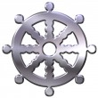 Foto Stock: Buddhism Symbol Wheel of Dharma