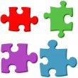 3D Puzzle Pieces — Foto Stock