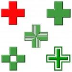 Pharmacy Crosses — Stock Photo #1408554