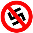 Anti Nazi Sign - Stock Photo
