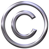Silver Copyright Symbol — Stock Photo
