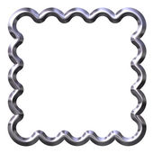 Silver Curled Frame — Stock Photo