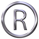 Silver Registered Symbol — Stock Photo