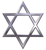 Silver Star of David — Stock Photo