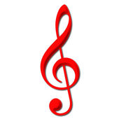 Treble Clef — Stock Photo
