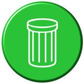 Waste Bin Button — Stock Photo