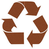 Wooden recycling symbol — Stock Photo
