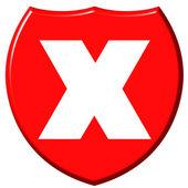 シールド x — ストック写真
