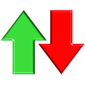 3D Up and Down Arrows — Stock Photo