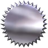 3D Silver Seal — Stock Photo