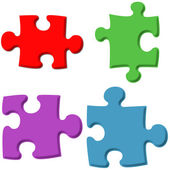 3D Puzzle Pieces — Stock Photo