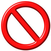 3D Forbidden Sign — Stock Photo