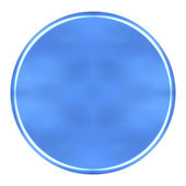 3D Azure Circular Button — Stock Photo