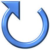 3D Azure Circular Arrow — Stock Photo