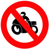 No Motorbikes — Stock Photo