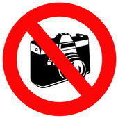 No Photographs — Stock Photo