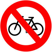 No Bicycles — Stock Photo