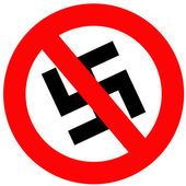 Anti Nazi Sign — Stock Photo