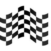 Checkered racing flag — Stock Photo