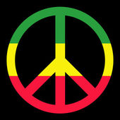 Colorful Peace Symbol — Stock Photo