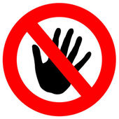 Do not touch — Stock Photo
