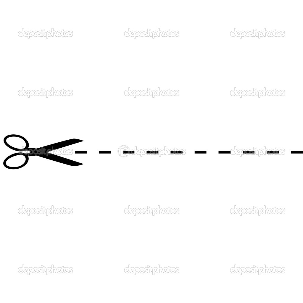 clip art dotted line with scissors - photo #18