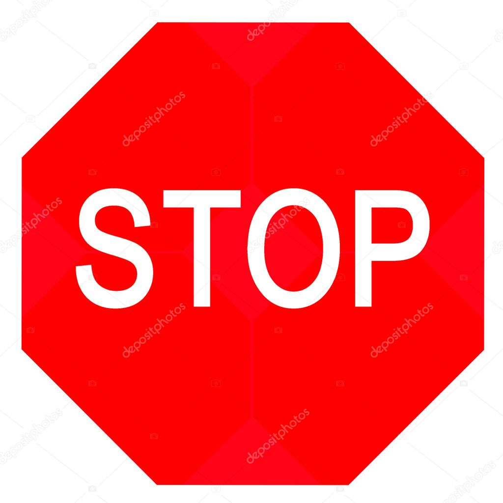 Stop sign isolated in white  Stock Photo #1400263