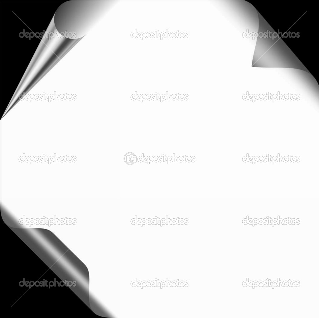 Page with three different paper curls — Stock Photo #1400360