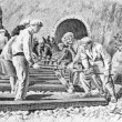 railroad construction — Stock Photo