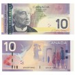 10 Canadian Dollars — Stock Photo