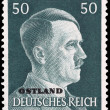 Adolf Hitler on German Stamp — Stock Photo