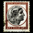 Alexander The Great on Greek Stamp — Stock Photo