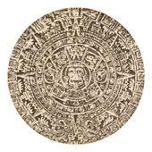 Aztec Calendar Sun Stone — Stock Photo