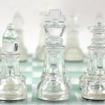 Glass Chess — Stock Photo