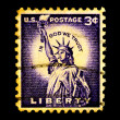 Royalty-Free Stock Photo: Statue of Liberty on USA Stamp