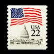 Patriotic USA Stamp — Stock Photo