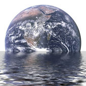 Sinking Earth — Stock Photo