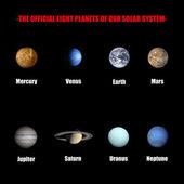 Osiem planet naszego układu słonecznego — Zdjęcie stockowe