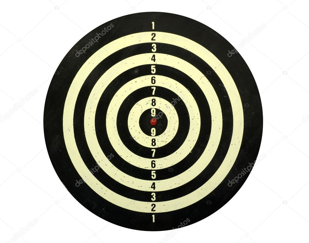 Dart board isolated in white — Stock Photo #1423938