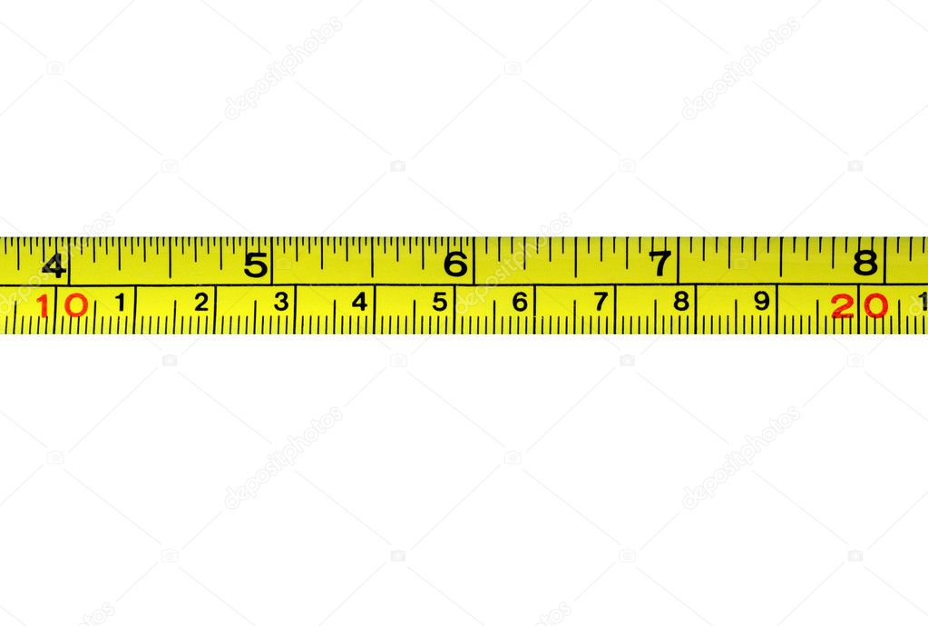 Measurement tape isolated in white — Stock Photo #1424202