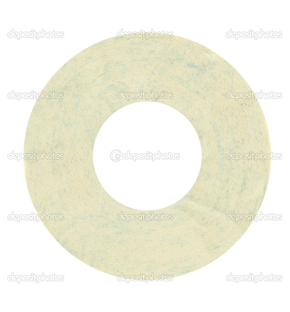 Toilet paper cd isolated in white — Photo #1427114
