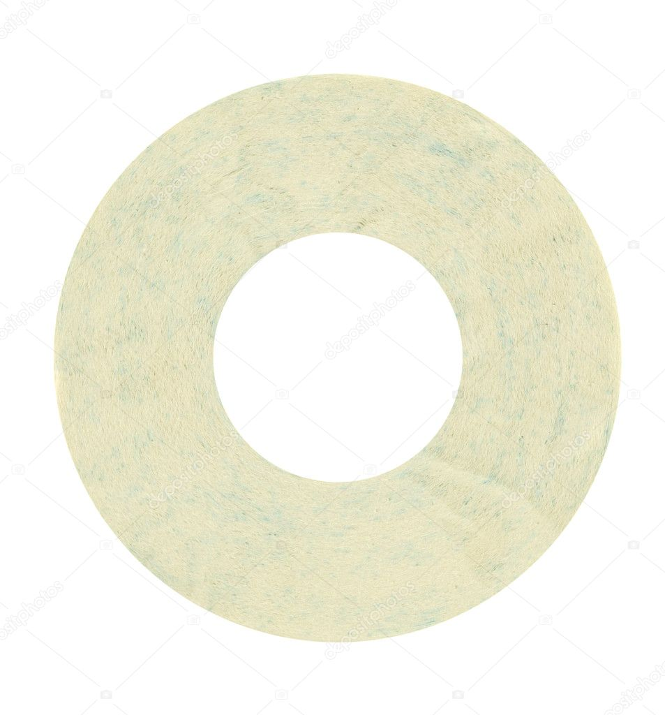 Toilet paper cd isolated in white  Stock fotografie #1427114