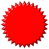 3D Red Seal — Stock Photo