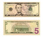 5 Dollar Bill — Stock Photo