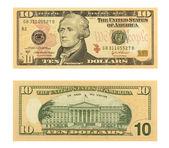 10 Dollar Bill — Stock Photo