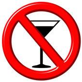 No hay rastros de alcohol 3d — Foto de Stock