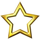 3D Golden Star Frame — Stock Photo