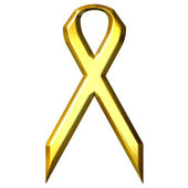 Childhood Cancer Awareness Gold Ribbon — Stock Photo