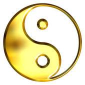 3D Golden Tao Symbol — Stock Photo