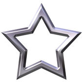 3D Silver Star Frame — Stock Photo